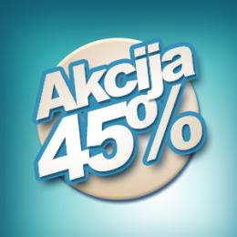 AKCIJSKI POPUST OD 45%!